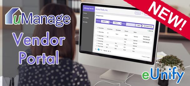 New uManage Vendor Portal